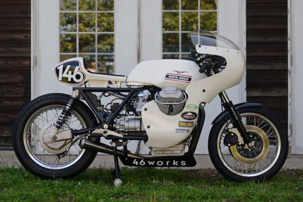 Moto Guzzi custom: A Magnificent V7 racer from 46Works