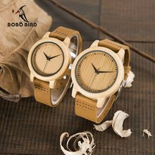 BOBO BIRD WA09 Ladies Casual Quartz Watches for Men Natural Bamboo Watch face Women's Brand Lovers Watches in Box Dropshipping(China (Mainland))