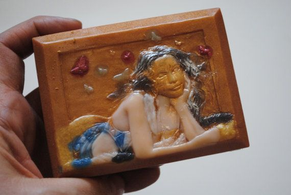 Handmade inspired 'Butterfly Kiss' parody Soap  Henri by NerdySoap