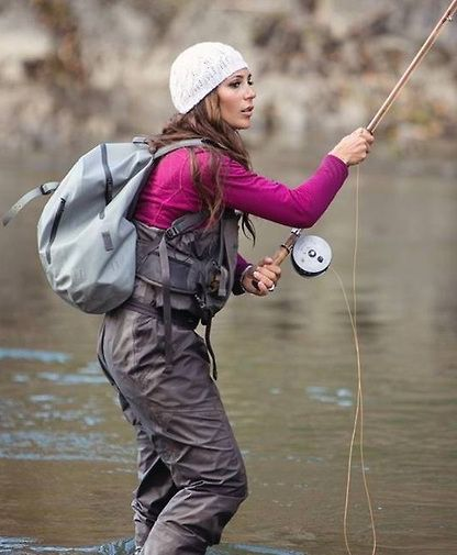 What is it with all these beautiful steelhead fishers: http://drowningworms.com/big-steelhead-fly-fishing-girls/