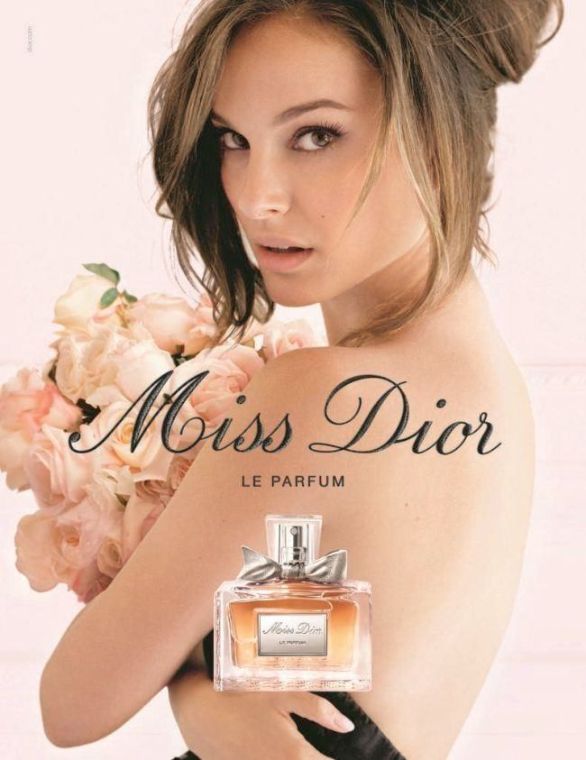 DIOR FRAGRANCE ADS THROUGH THE YEARS | Natalie Portman poses for Miss Dior fragrance advertisement in 2012
