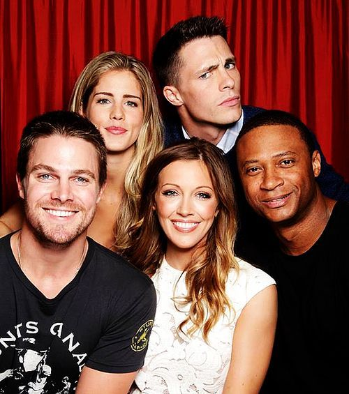 The CWs Arrow cast | Katie Cassidy, Stephen Amell, Colton Haynes, David Ramsey, Emily Bett Rickards