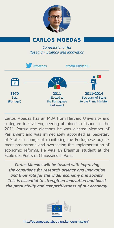 Carlos Moedas, EU Commissioner for  Research, Science and Innovation #TeamJunckerEU