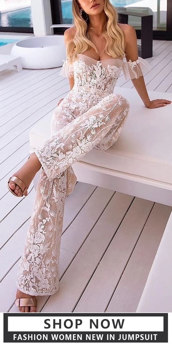 There are a lot of sexy fashion design jumpsuits, evening dresses, coats. The best choice for you, free shipping on order $59+, spent $59 get 5% off, spent $99 get 10% off, spent $149 get 15% off!!! Shop now! #women #jumpsuits #white #fashion