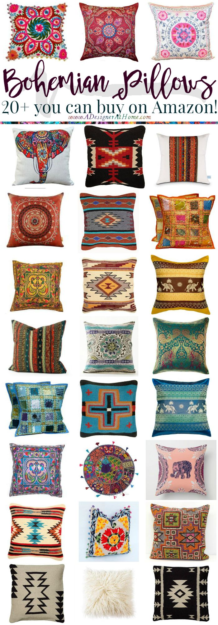 Diy Boho Throw Pillows : 25+ best ideas about Bohemian Pillows on Pinterest Bohemian interior, Boho pillows and Gypsy ...