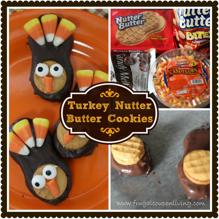 Turkey Nutter Butter Cookies Tutorial – Thanksgiving Food Craft #Thanksgiving #Turkey #Treat