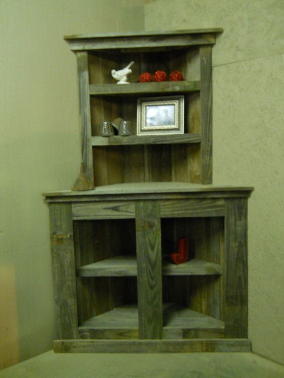 Reclaimed Wood Bookcase Barnwod Furniiture Reclaimed Wood Corner Shelf Rustic Bookcase