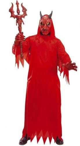 Déguisement diable à capuche rouge adulte Halloween