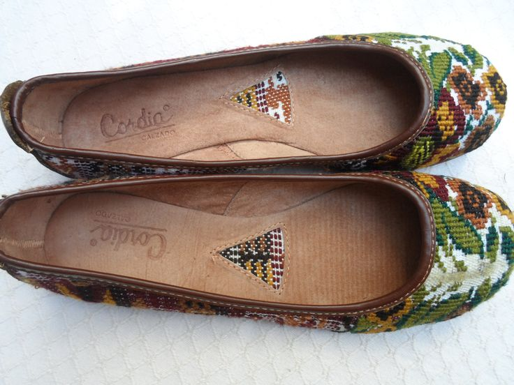 Guatemalan Women Leather, Huipil Fabric Ballet Flat Shoes 10 NEW flate sko by Guatenice on Etsy