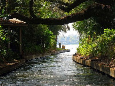 Beautiful, historic Winter Park Florida is an enclave of Orlando - a wonderful place to live and relax on the weekend - sitting or walking in the park, good shopping and sit-out restaurants - so much more. You can pick up the Amtrack running through town.. to Miami or other coastal cities.