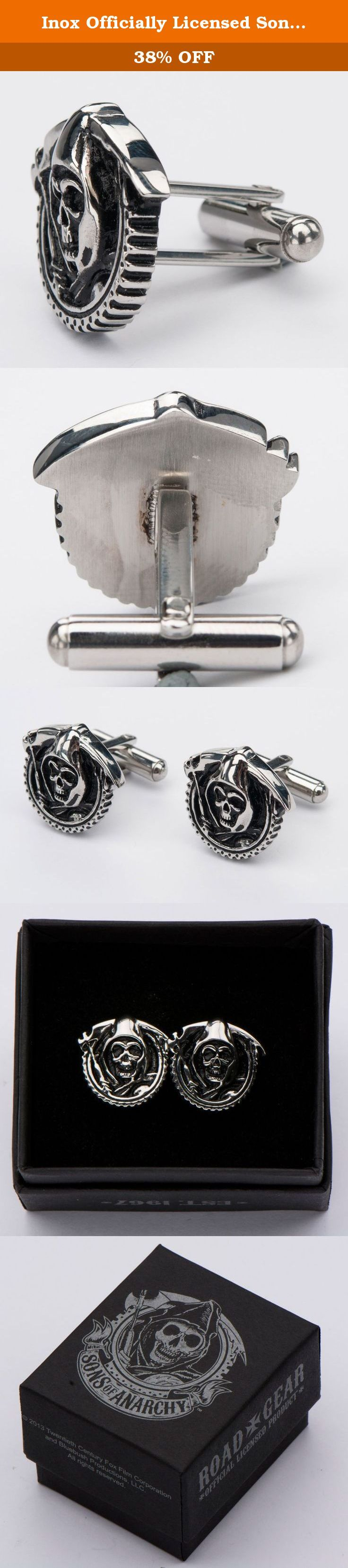 Inox Officially Licensed Sons of Anarchy Stainless Steel Grim Reaper Cufflinks. N0-Risk Guarantee! If for any reason you are not satisfied with your purchase, simply return them for a full Money Back Guarantee!.