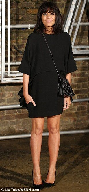Pins on parade: Claudia Winkleman flaunted her legs in a seriously chic LBD...