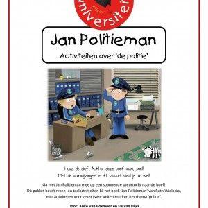 Jan-politieman Met de aanwijzingen in dit pakket vind je 'm wel! Ga met Jan Politieman mee op een spannende speurtocht naar de boef! Dit pakket bevat reken- en taalactiviteiten bij het boek 'Jan Politieman' van Ruth Wielockx, met activiteiten voor zeker twee weken rondom het thema 'politie'.