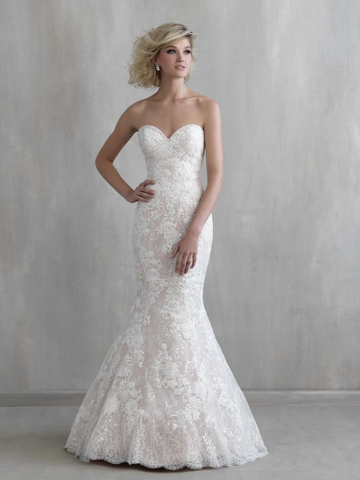 Beautiful lace fit & flare by Madison James, we have a size 18  www.anniesroombridal.com