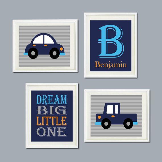 CAR Nursery Decor Art TRUCK Transportation by LovelyFaceDesigns, $37.00