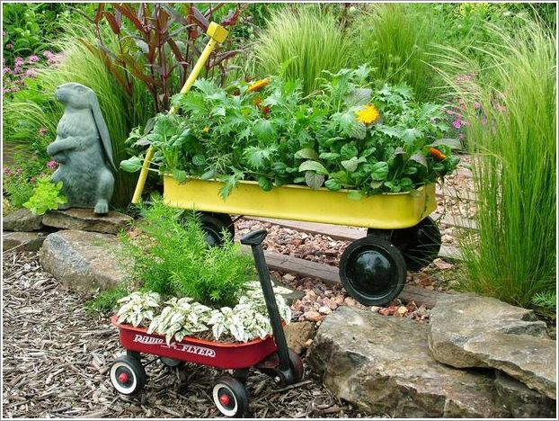 1. Vintage Wagon Planters Wagons are perfect for a large bed of flowers, with abundant space and portability to spare. Try repainting the body to a new color if you'd like. Source: hgtv 2. Teapot Planter An old decorative teapot, like any solid open-topped container, makes for a great planter. Many of them have whimsical …
