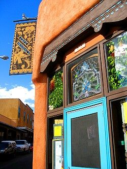 Cafe Pasqual Santa Fe.  USA  This is a beautiful corner of the city! And the food is great. Be prepared to wait in line; but it's worth it.