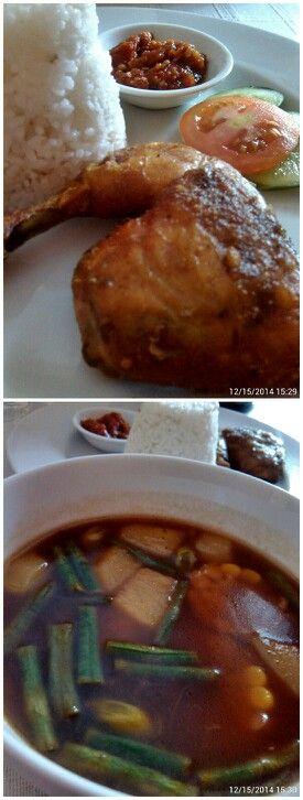 Nasi, ayam goreng, sambel & sayur asem… #SewuRasaMenu #SewuRasa