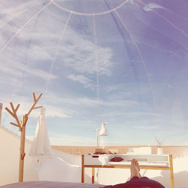Un hotel burbuja en pleno desierto de Navarra | The Creators Project