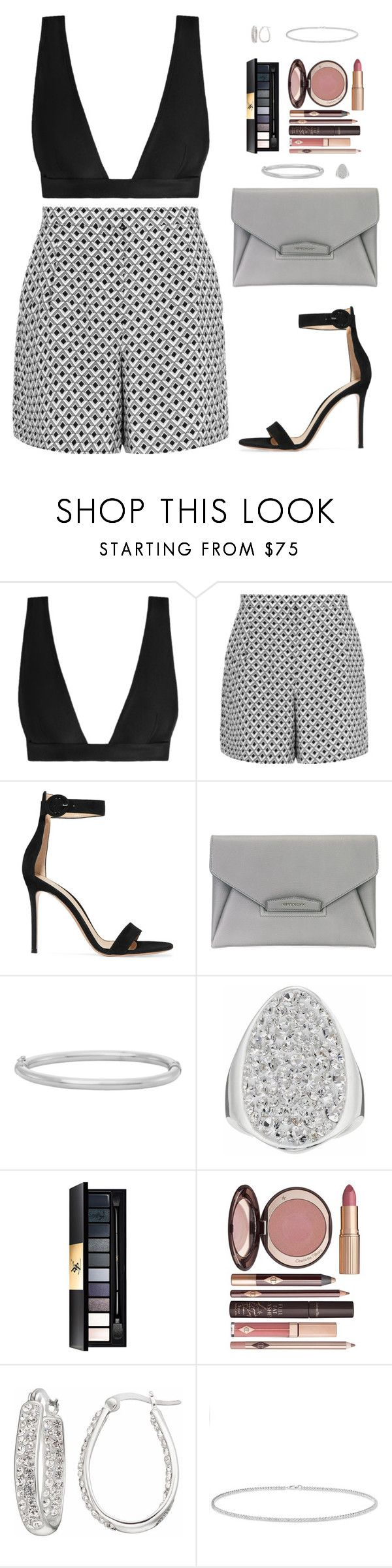 """""""Sin título #4573"""" by mdmsb on Polyvore featuring moda, Zimmermann, Reiss, Gianvito Rossi, Givenchy, Yves Saint Laurent, Charlotte Tilbury y Anne Sisteron"""