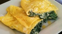 Ingredientes 2 Ovos Espinafres cozidos 1 Fio de azeite 1 colher (de sopa) de leite (opcion...