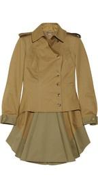 Alexander McQueen chaqueta de sarga de algodón casaca militar