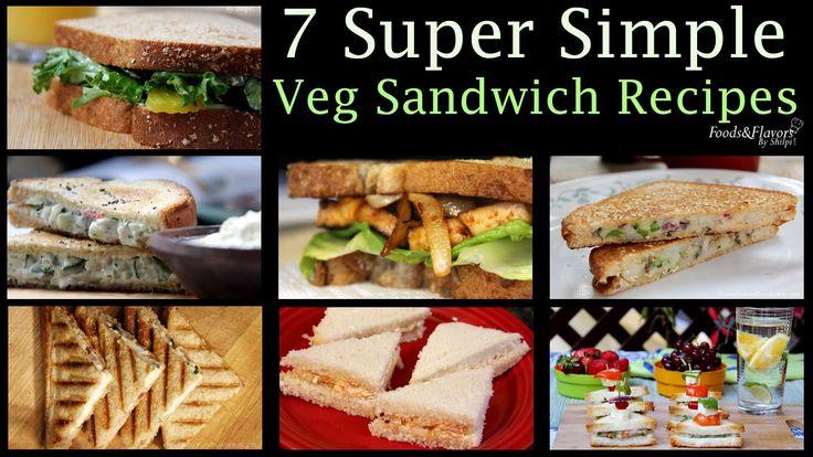 Veg Sandwich Recipes | Healthy Evening Snacks Easy Breakfast Recipes & Kids lunch Box snacks idea