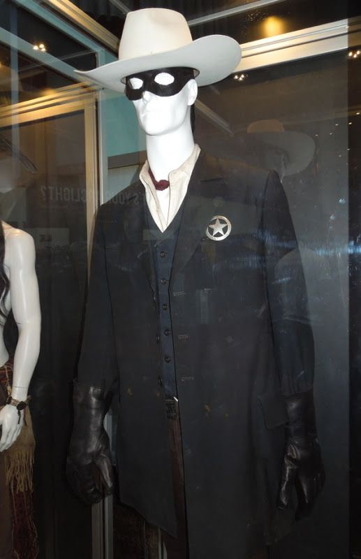 Hollywood Movie Costumes and Props: Original costumes from Disney's The Lone Ranger on display... Original film costumes and props on display