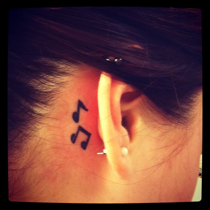 20 Baking The Music Behind Ear Tattoos Ideas And Designs