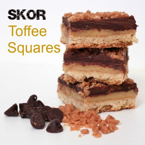 Skor Toffee Squares - now if I could just find some Skor bars around here.