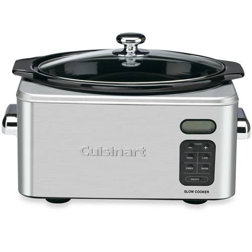 This family-sized Cuisinart slow cooker features 24-hour programmable cook time and a digital countdown timer with three cooking modes.