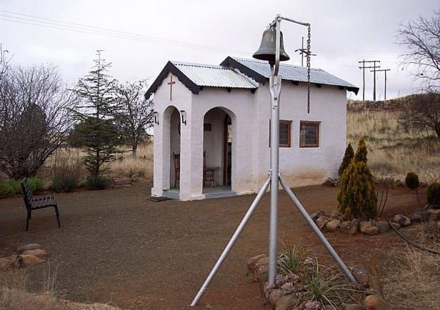 The cute little chapel at Rondefontein Guest Farm.