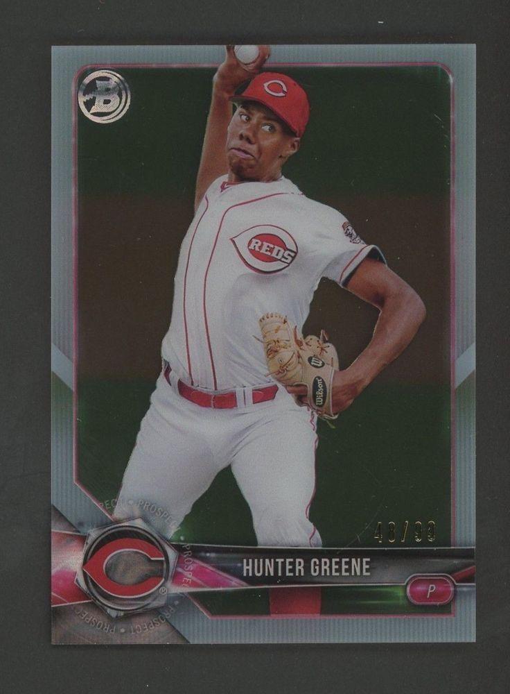 2018 Bowman Clear Hunter Greene Cincinnati Reds Rc Rookie 4899
