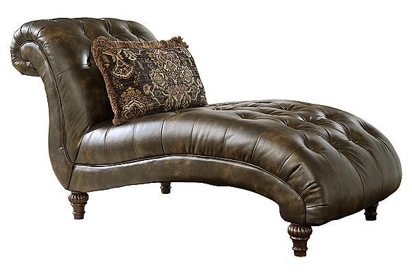 The glynallen teak chaise from ashley furniture for Ashley furniture chaise lounge prices