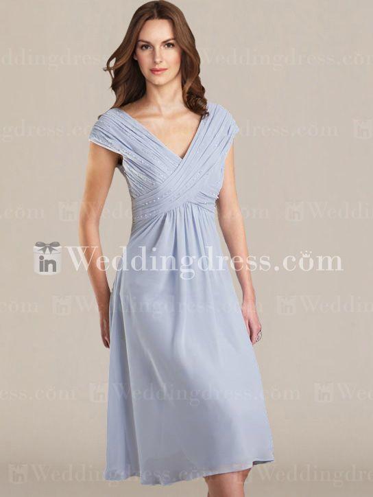Destination Chiffon V Neck Bride Mother Dress MO067