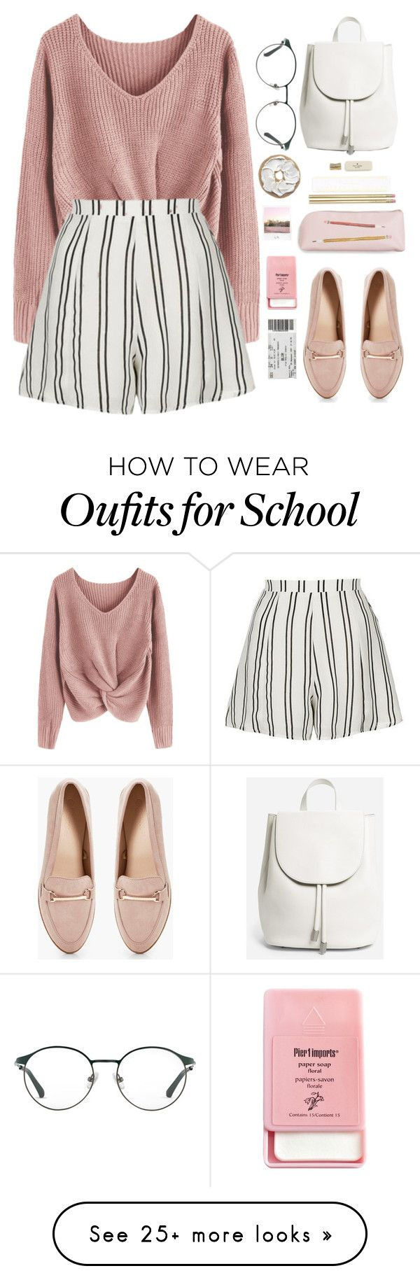 """c l o s e r"" by rubiasol on Polyvore featuring Topshop, Boohoo, Kate Spade, Everlane, 3.1 Phillip Lim, Pier 1 Imports and Polaroid"
