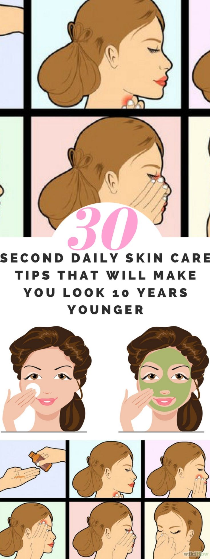30-Second Daily Skin Care Tips That Will Make You Look 10 Years Younger #daily #skincare #tips #diy #remedies