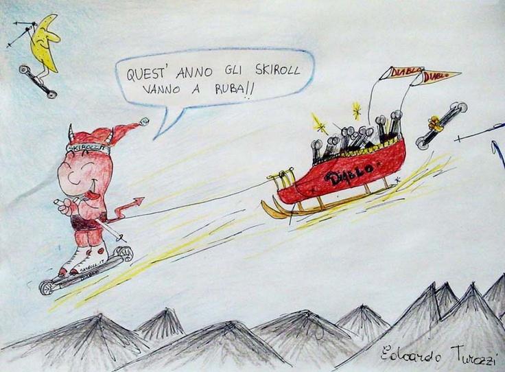Skirollo Diablo: all terrain rollerskis - By Edoardo Turozzi - www.skirollo.com