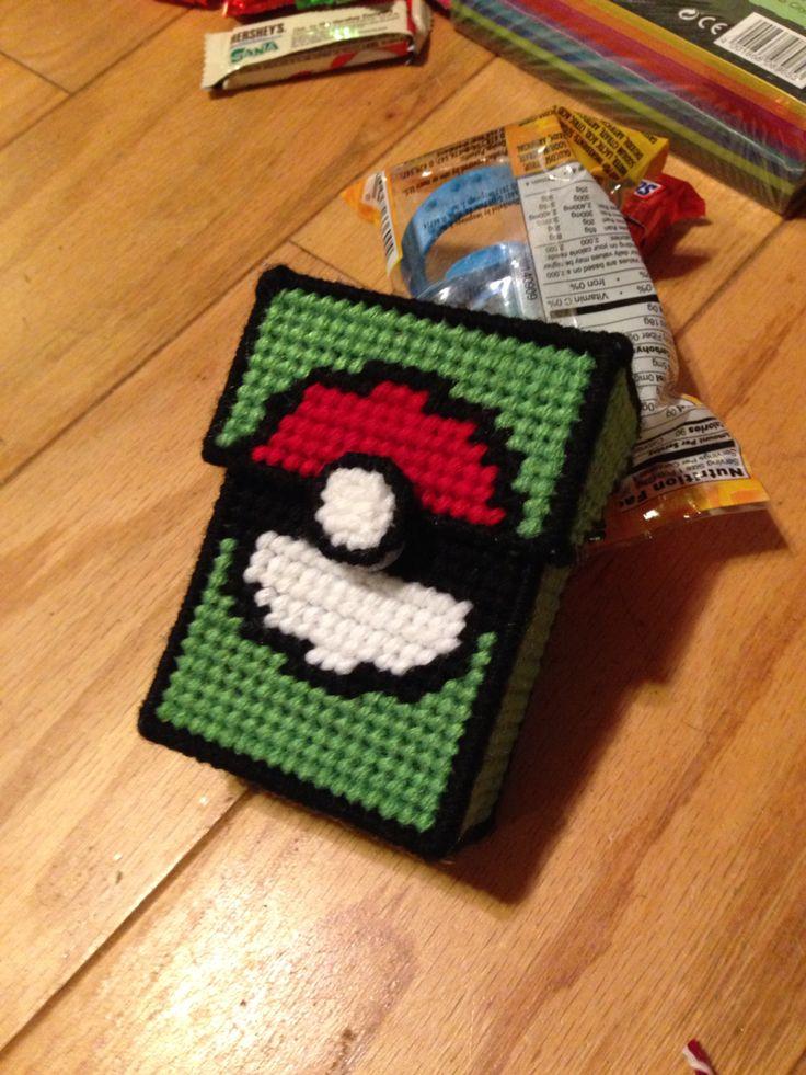 Pokemon deck box, plastic canvas