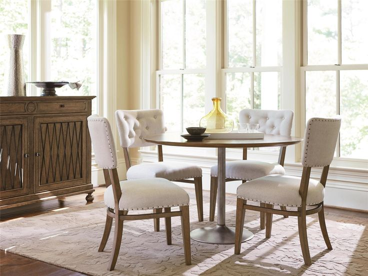 Shop Our Maison French Industrial 5 Piece Round Kitchen Table Set For Sale  At Zin Home. This 48 Inch Kitchen Dining Set Include A Round Pedestal  Kitchen ...