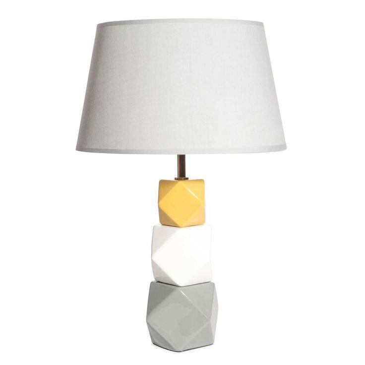 Grafik-Lampe aus dreifarbiger Keramik, MIYAGI