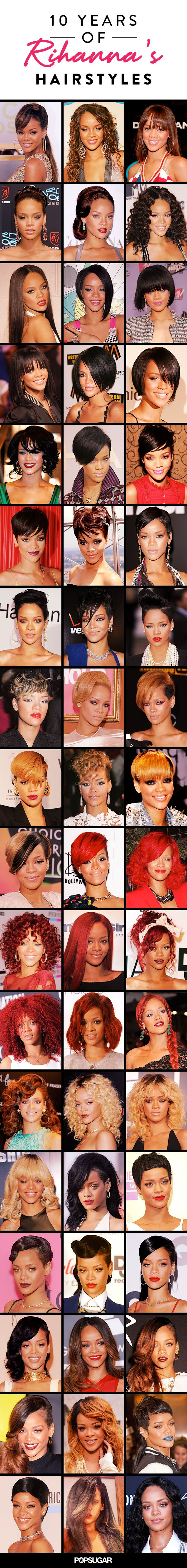 Check Out Rihanna's Hair Evolution Before Your Next Salon Trip