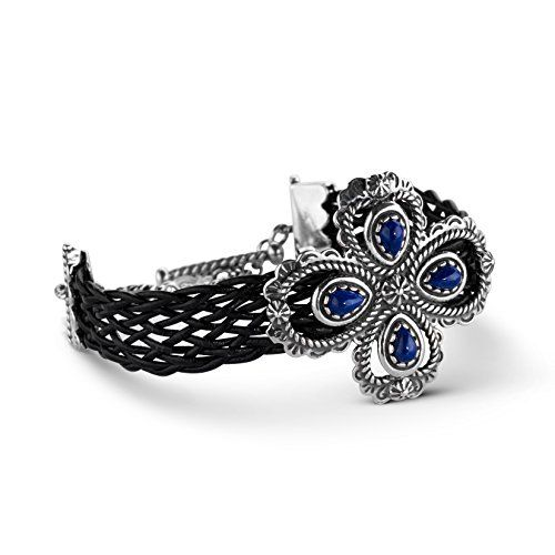 American West Genuine .925 Sterling Silver Blue Lapis Lea... https://www.amazon.com/dp/B01LBSEQSQ/ref=cm_sw_r_pi_dp_x_dqB0yb13GEKEJ