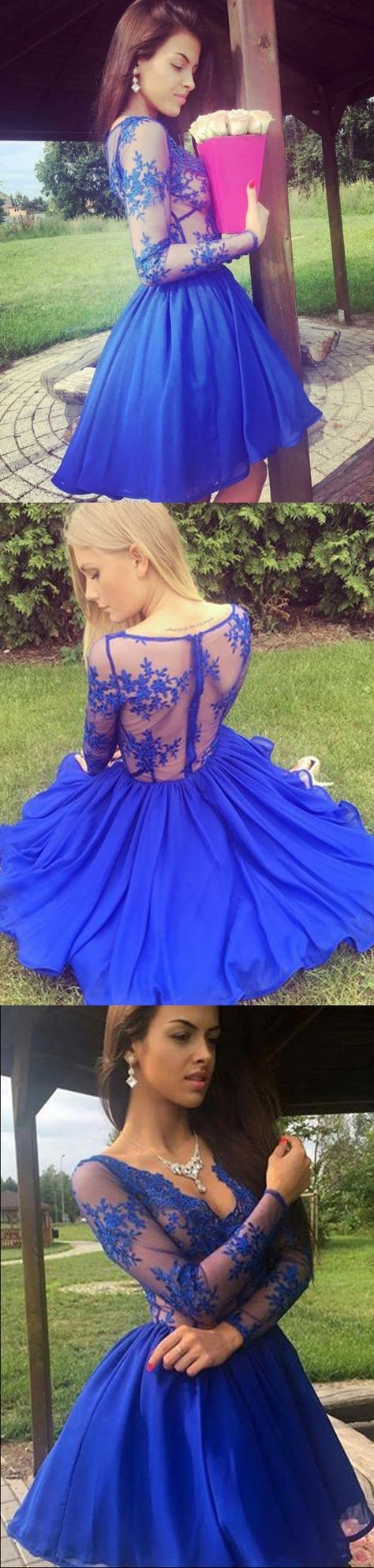 Royal Blue Homecoming Dress,homecoming dress A-line,homecoming dress V Neck,homecoming dress Appliques,homecoming dress Chiffon,Short Prom Dress,Party Dress #annapromdress #homecomingdress #homecoming #shortdress #shortpromdress #partydress #party #prom #fashion #style #dress