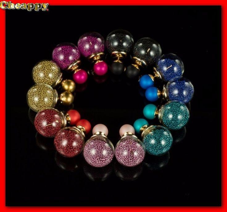 Mooie Double Dots glazen oorbellen 8 kleuren - Cheappy
