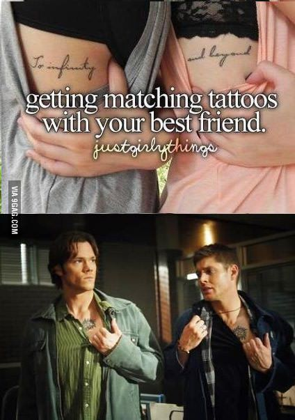 Haha if I had friends who watched supernatural I would totally get that tattoo