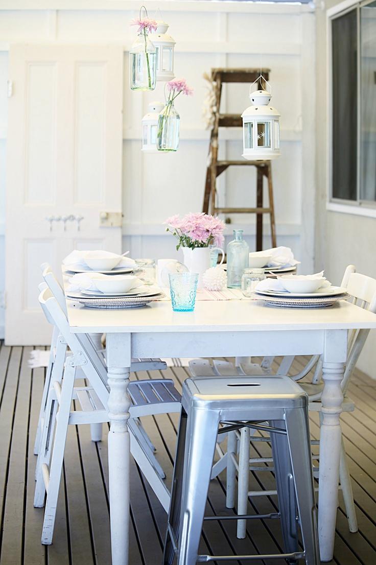 130 best beach kitchen ideas images on pinterest kitchen mother s day coastal beach cottage vintage table decorating idea abeachcottage com