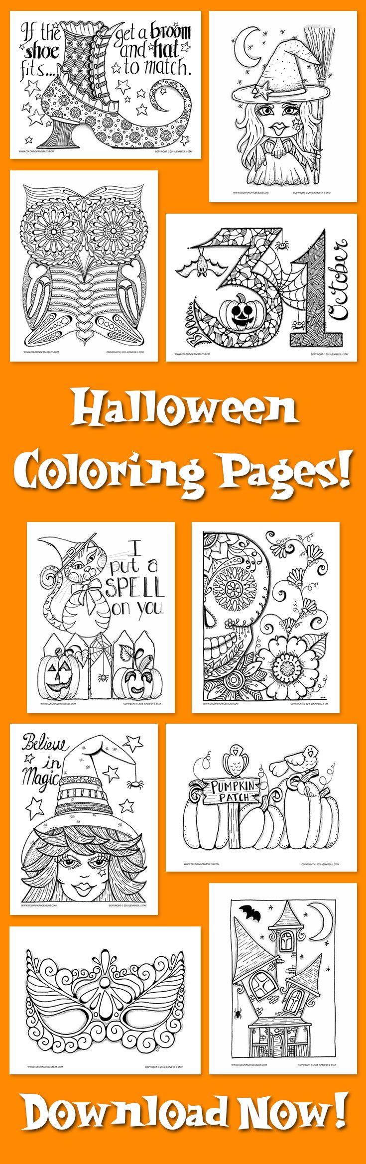 The coloring book project 2 download - Halloween Coloring Pages For Adults These Hand Drawn Coloring Pages Are Downloadable And Fun To