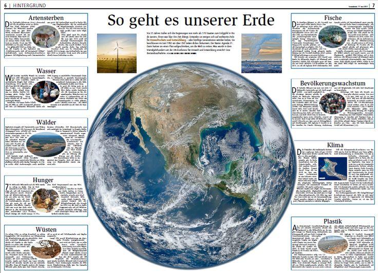 Heute hat die Nordsee-Zeitung eine Übersicht zur Situation unserer Erde veröffentlicht. Themen die nur die Grünen ehrlich angehen und lösen wollen. #Darum Grün