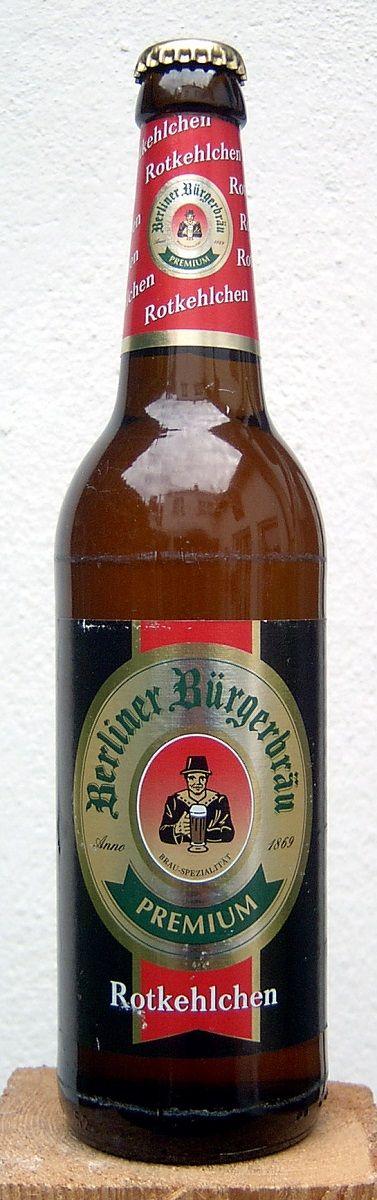 Berliner Bürgerbräu Rotkehlchen, Amber Lager/Vienna 5,3% ABV(Berliner Burgerbrau, Alemania)